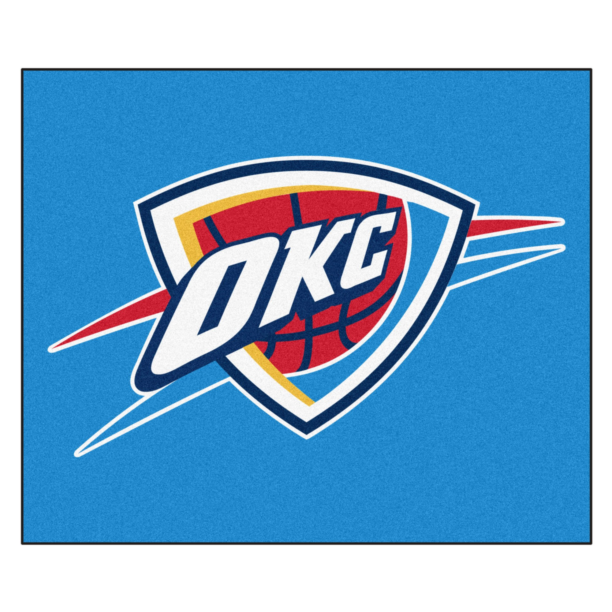 FANMATS 19464 NBA - Oklahoma City Thunder Tailgater Rug , Team Color, 59.5''x71'' by Fanmats