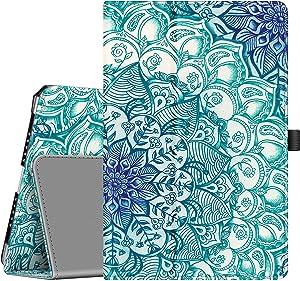Fintie Case for iPad 9.7 2018/2017, iPad Air 2, iPad Air - [Corner Protection] Premium Vegan Leather Folio Stand Cover, Auto Wake/Sleep for iPad 6th / 5th Gen, iPad Air 1/2, Emerald Illusions