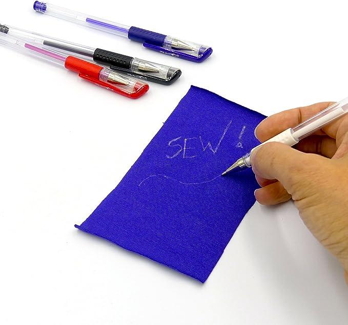 Black Colaxi 100x//Set Erasable Fabric Marking Pen Refill 4 Colors Erasable Pens
