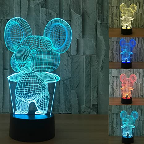 Toys & Hobbies 2017 New Giraffe 2 3d Colorful Touch Led Visual Gift Atmosphere Lamp Moderate Price