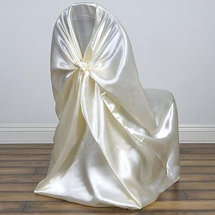 Super Amazon Com 50 Universal Satin Self Tie Wedding Chair Cover Ibusinesslaw Wood Chair Design Ideas Ibusinesslaworg