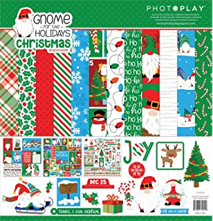 Multi Colored Reminisce Gnome for Christmas Scrapbook Collection Kit Paper Crafts