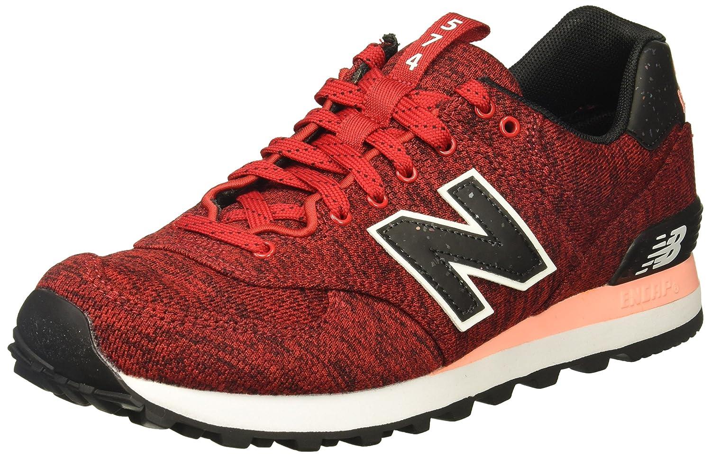 New Balance Women's 574v1 Sneaker B01N192LJX 5 D US Team Red/Fiji