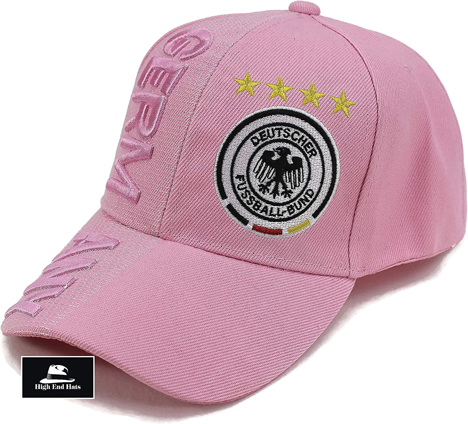 "High End Hats /""Nations of Europe Hat Collection/"" 3D Embroidered Adjustable Baseball Cap"