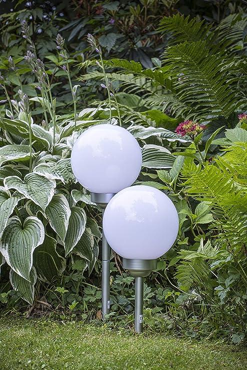 LED LOVERS Poste De Luz Solar, 20x20x60 cm, Pack de 2: Amazon.es: Jardín