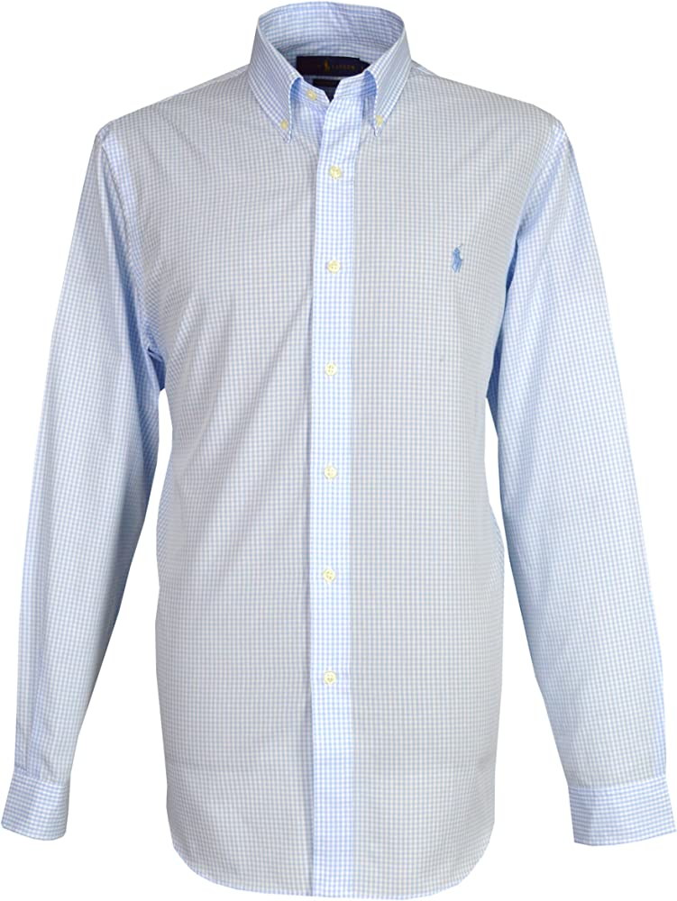 Ralph Lauren - Camisa casual - con botones - Manga larga - para hombre Azul azul Large: Amazon.es: Ropa y accesorios