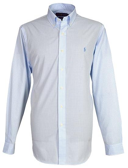 964e5e78e085b Ralph Lauren Men`s Casual Shirt - Blue Check  Amazon.co.uk  Clothing