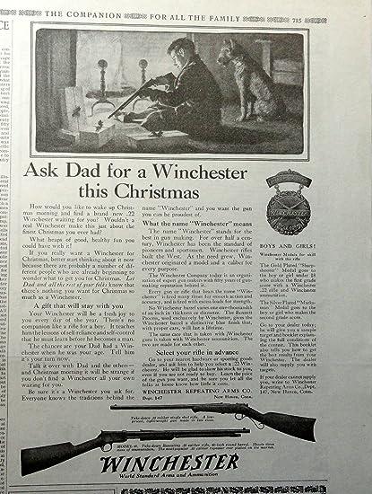 1910-19 Original 1917 Winchester Gun Advertisement..be Nice Framed Merchandise & Memorabilia