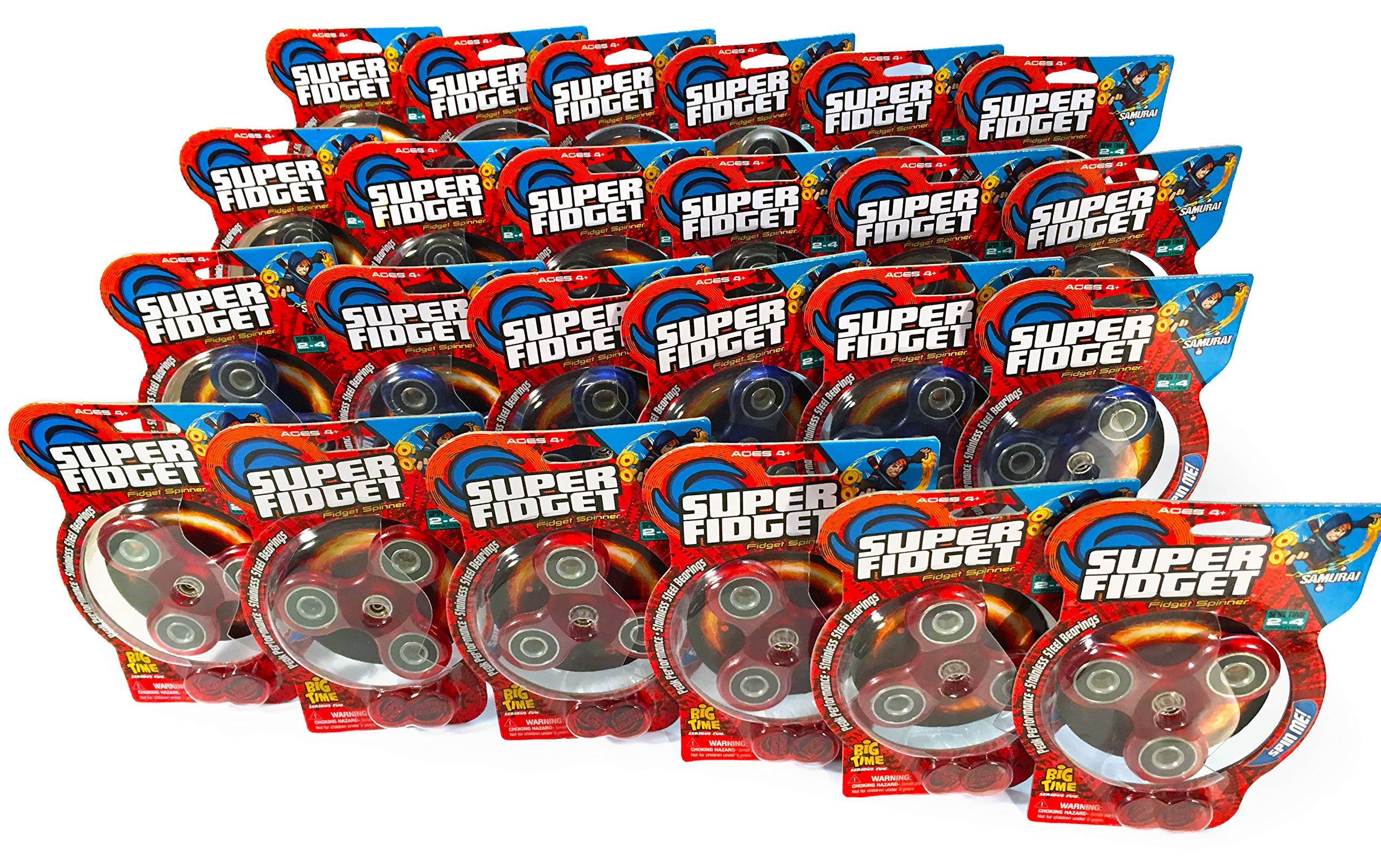 Super Fidget Samurai Fidget Spinner (24 pack) by Big Time