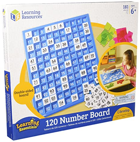 Amazon learning resources ler1332 120 number board 181 pieces learning resources ler1332 120 number board 181 pieces ccuart Gallery