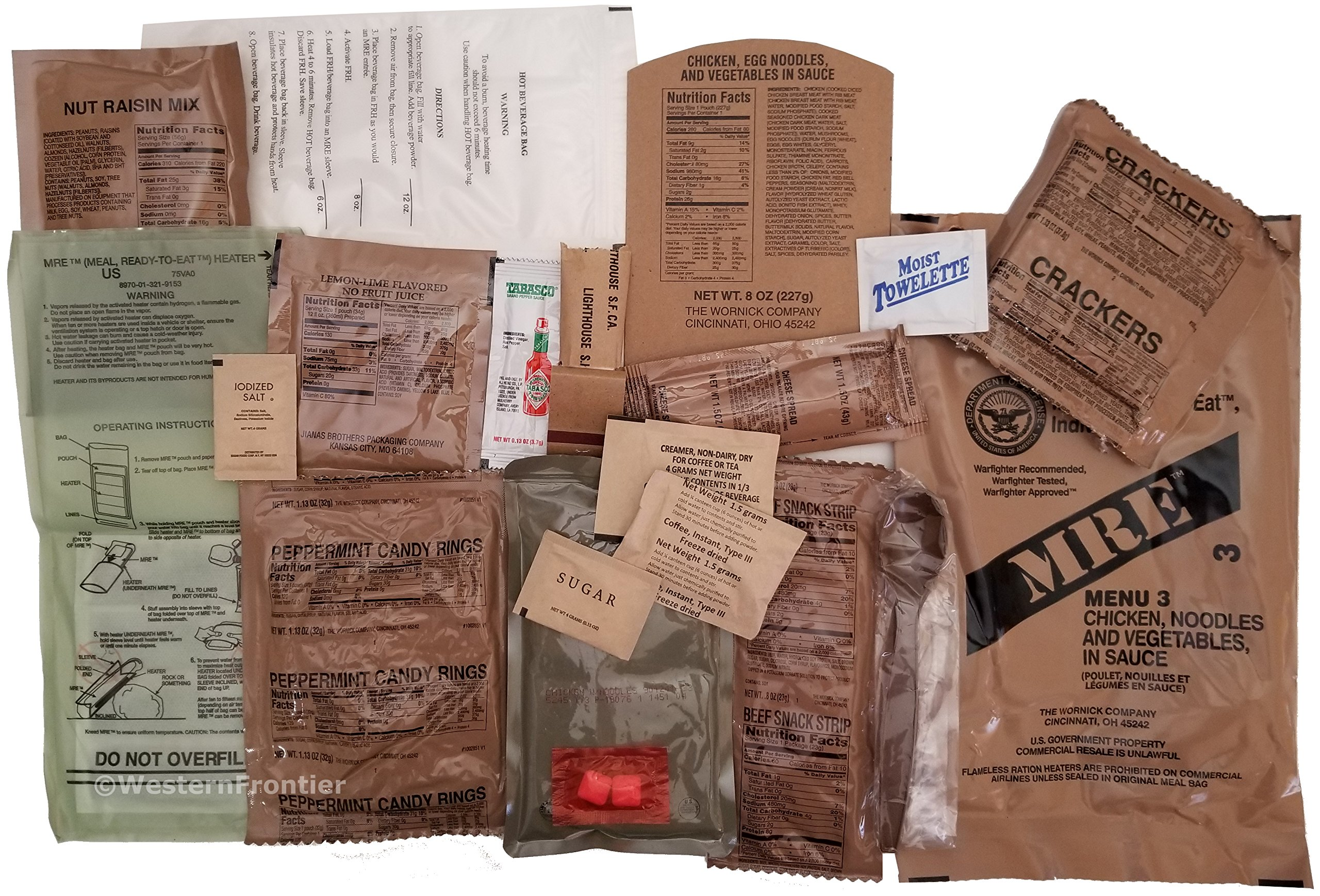 Western Frontier MRE 2019 Inspection Date Case A and Case B Bundle, 24 Meals Packed in 2016. Military Surplus Meal Ready to Eat. by Western Frontier (Image #4)