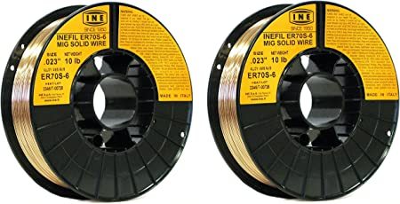 INEFIL ER70S-6 .030-Inch on 10-Pound/Spool Carbon Steel Mig Solid Welding Wire
