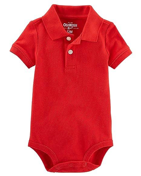 Amazon OshKosh Bgosh Baby Boys Short Sleeve Pique Polo Bodysuit Clothing