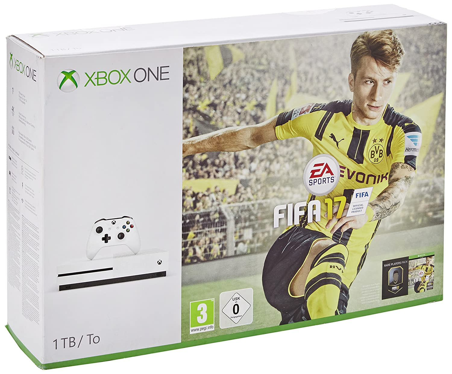 uk daily deals xbox one s 1tb with fifa 17 or forza. Black Bedroom Furniture Sets. Home Design Ideas