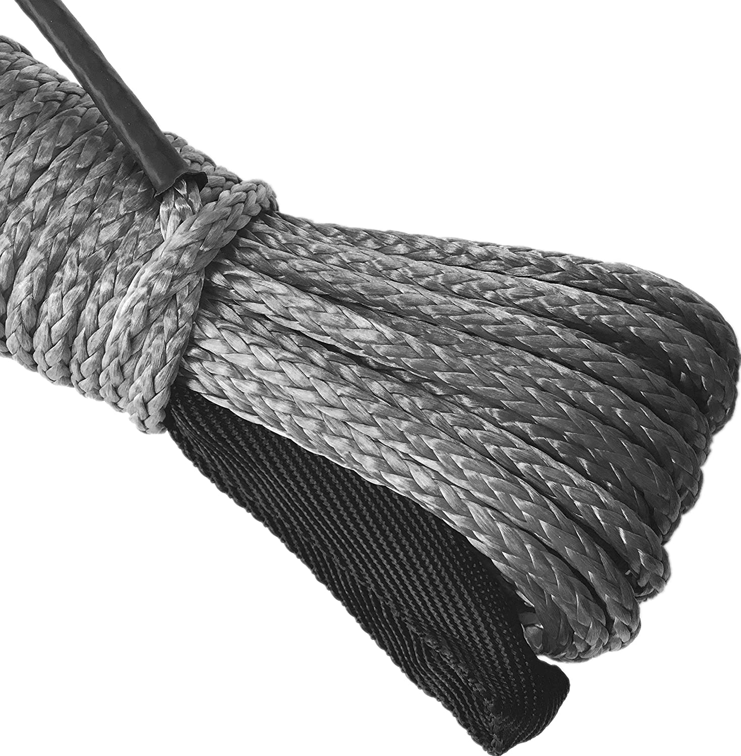 OFFROAD BOAR SK75 1//4 x 49/' Dyneema Synthetic Winch Rope for 4x4 SUV Truck (10000LBS)(Gray)