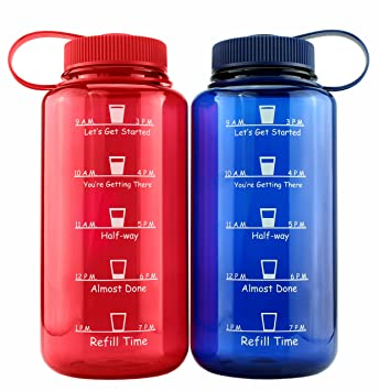700ml Sports Water Bottle with Time Tracker//Marker BPA Free
