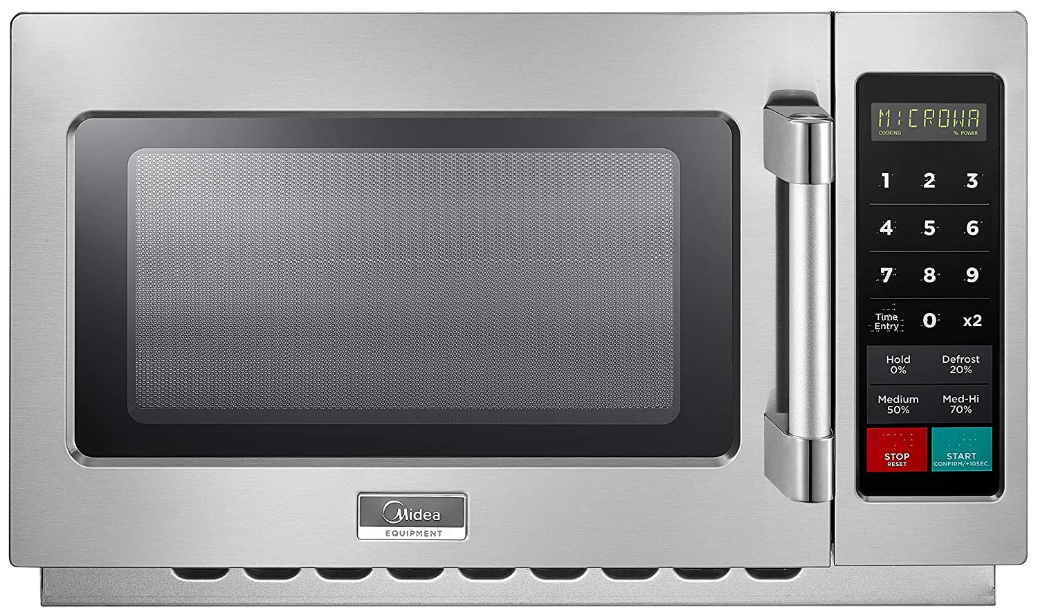 Midea 1034N1A Stainless Steel Countertop Commercial Microwave Oven, 1000W