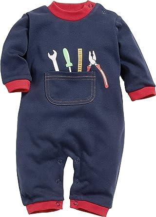 09dde17730 Schnizler Baby-Jungen Schlafoverall Heimwerker Schlafstrampler, Blau 7, 50