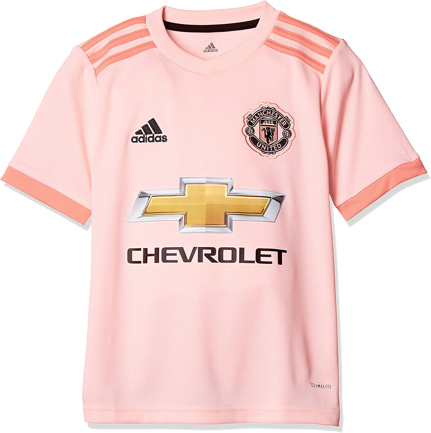 Amazon Com Adidas 2018 2019 Man Utd Away Football Soccer T Shirt Jersey Kids Clothing