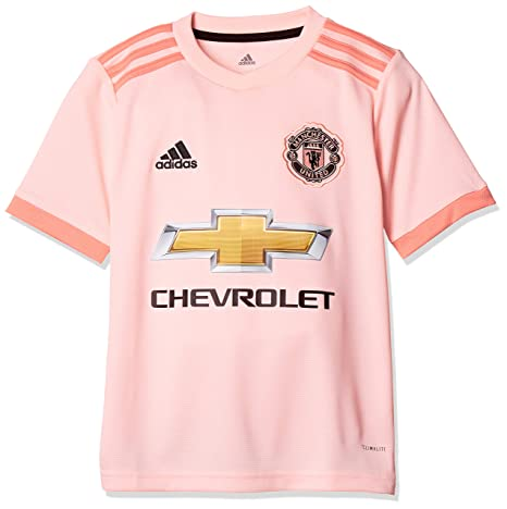 top fashion 62cd3 60f06 adidas Manchester United 2018/19 Kids Short Sleeve Away ...