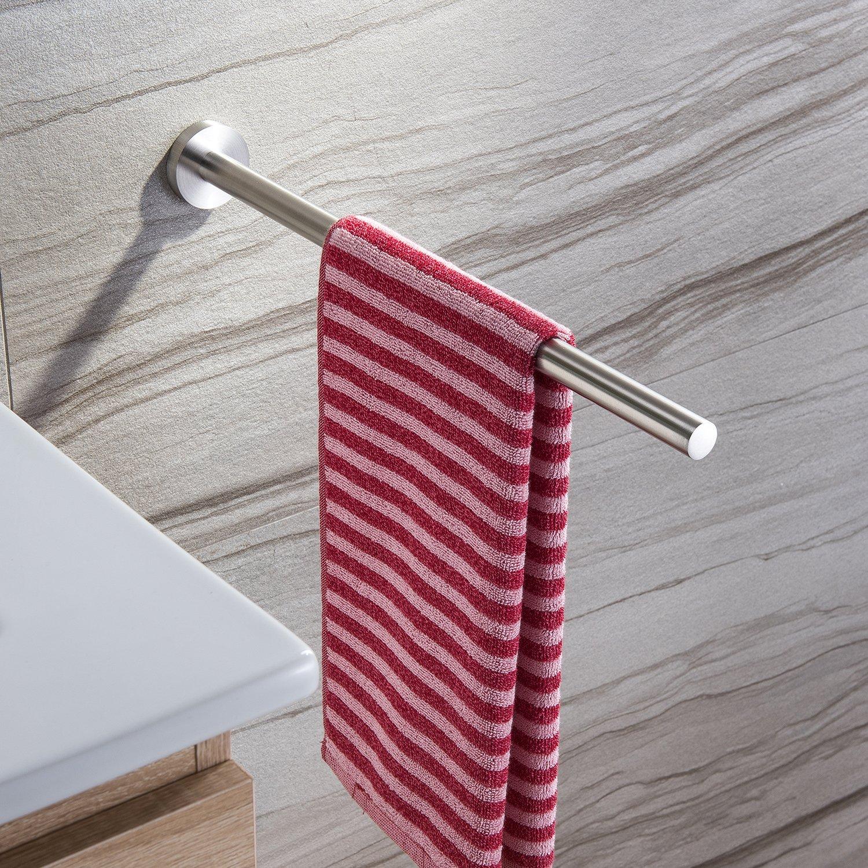 Taozun Bathroom Towel Bar-16 Inch Towel Holder Single Hanging Towel Rack Kitchen Waterproof Brush Stainless Steel