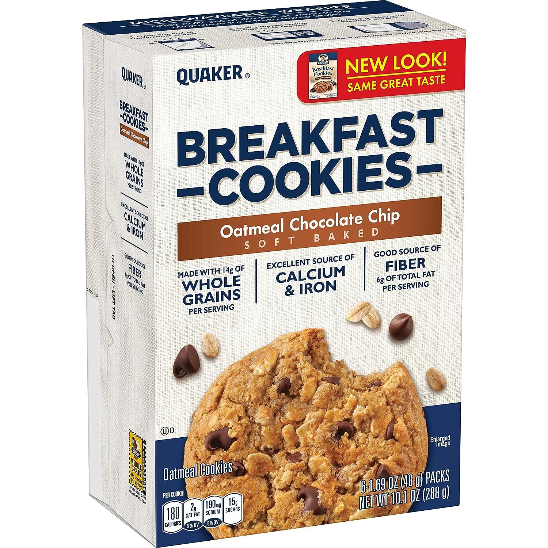 Quaker – Juego de 6 galletas de desayuno, chocolate de avena ...