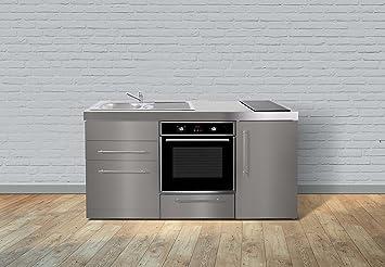 Miniküche Kühlschrank Links : Miniküche premiumline mpbgses u edelstahl u kühlschrank