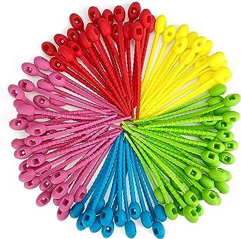 Lot de 100 serre-c/âbles color/és r/éutilisables et r/éutilisables
