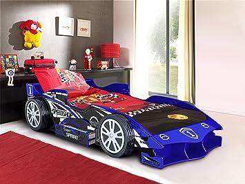 Kinder Jungen Kids Blau Speedracer Auto Bett Komfort