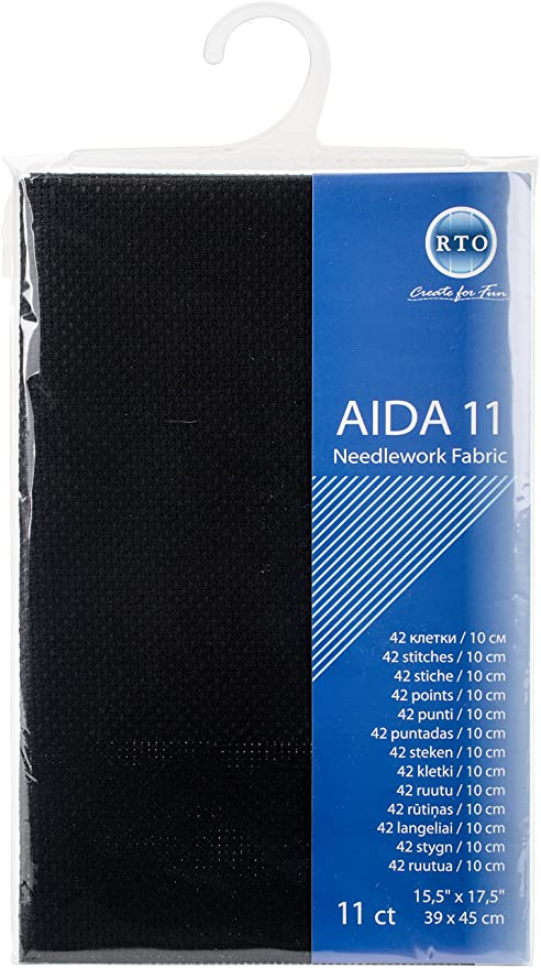 Tela Aida 18 Count RTO Blanco 39 X 45 Cm