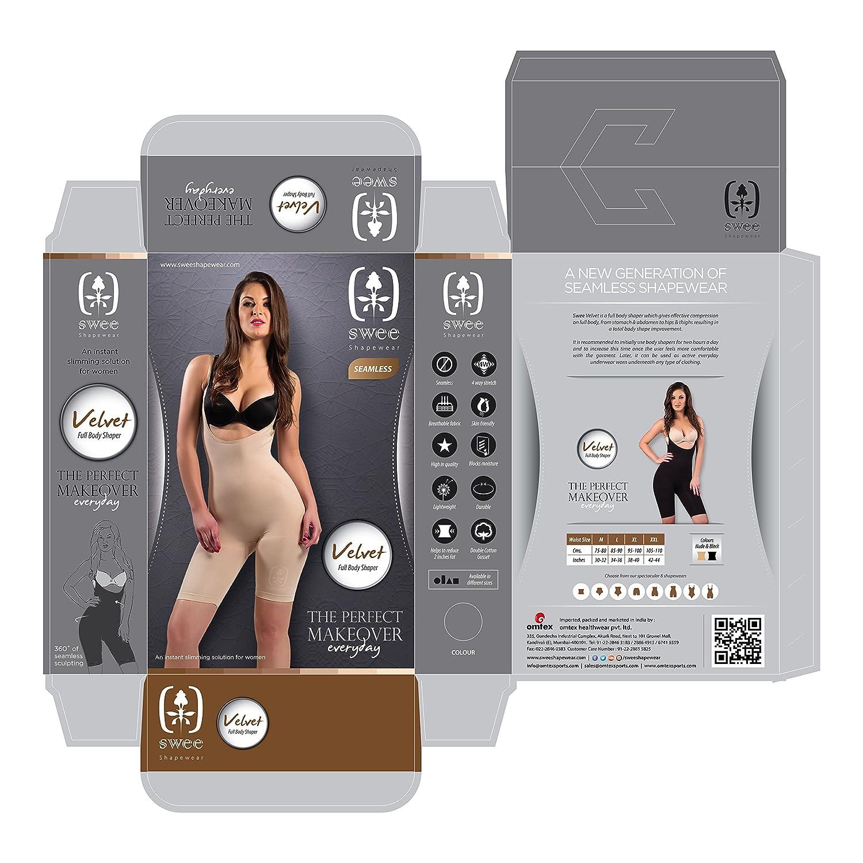 34590e4839650 Swee Velvet Women s Shapewear Full Body Shaper Women s Innerwear Nude   Amazon.in  Clothing   Accessories