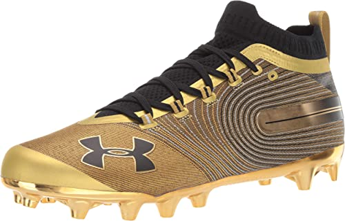 NEW Mens Under Armour Hammer Mid MC Football Cleats Brown Size 13 M