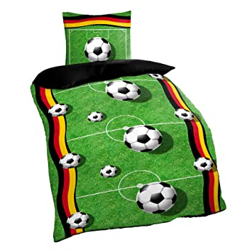 Fussball Bettwasche 135x200 80 X 80 Cm Spielfeld