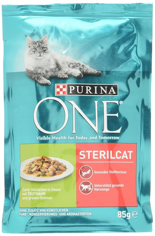 One Sterilcat Katzenfutter mit Truthahn und grünen Bohnen, 24er Pack ...
