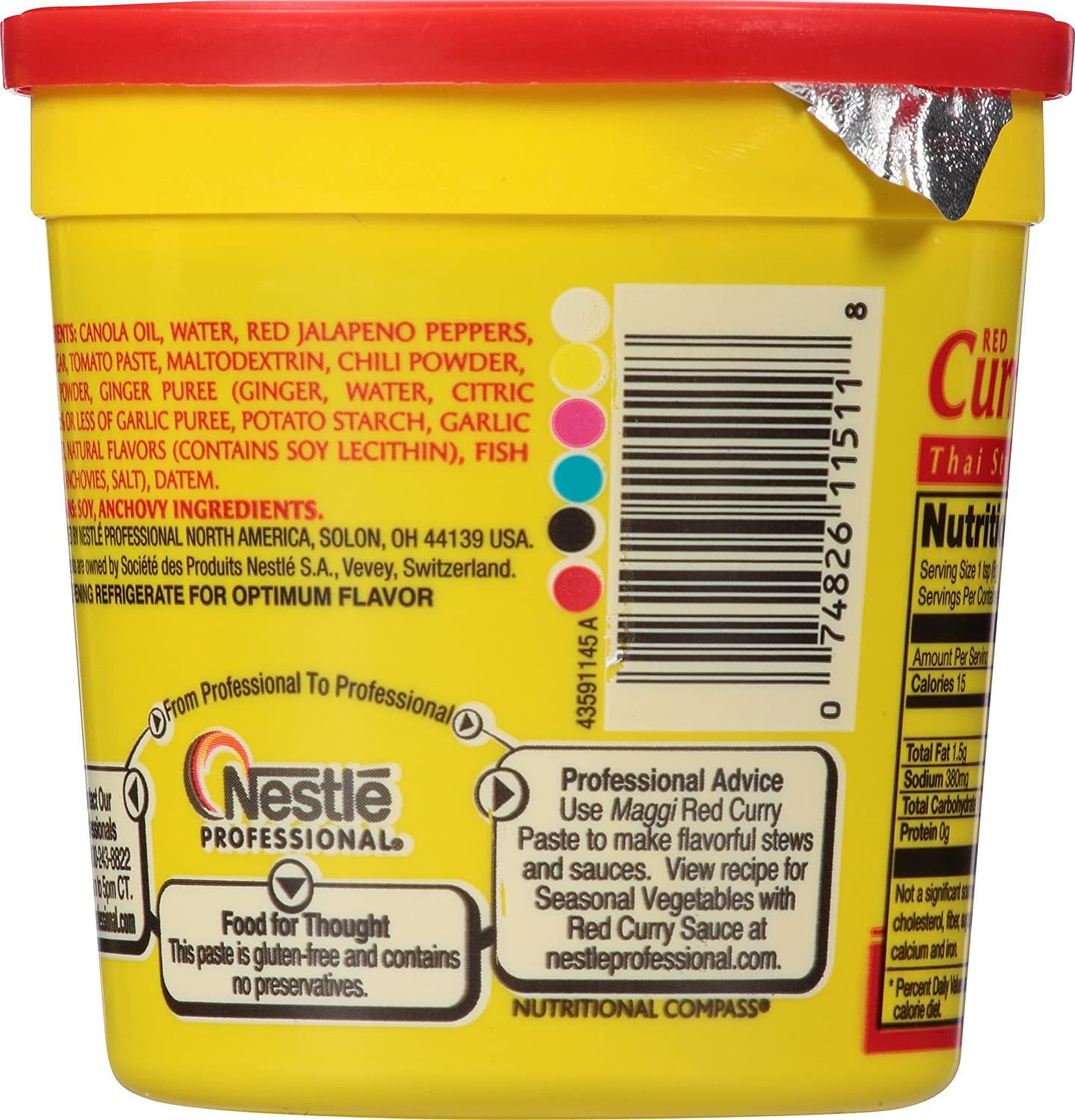 maggi thai style red curry paste 14 4 ounce
