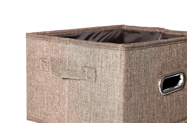 Amazon.com: Caja de almacenamiento con tapa plegable de tela ...