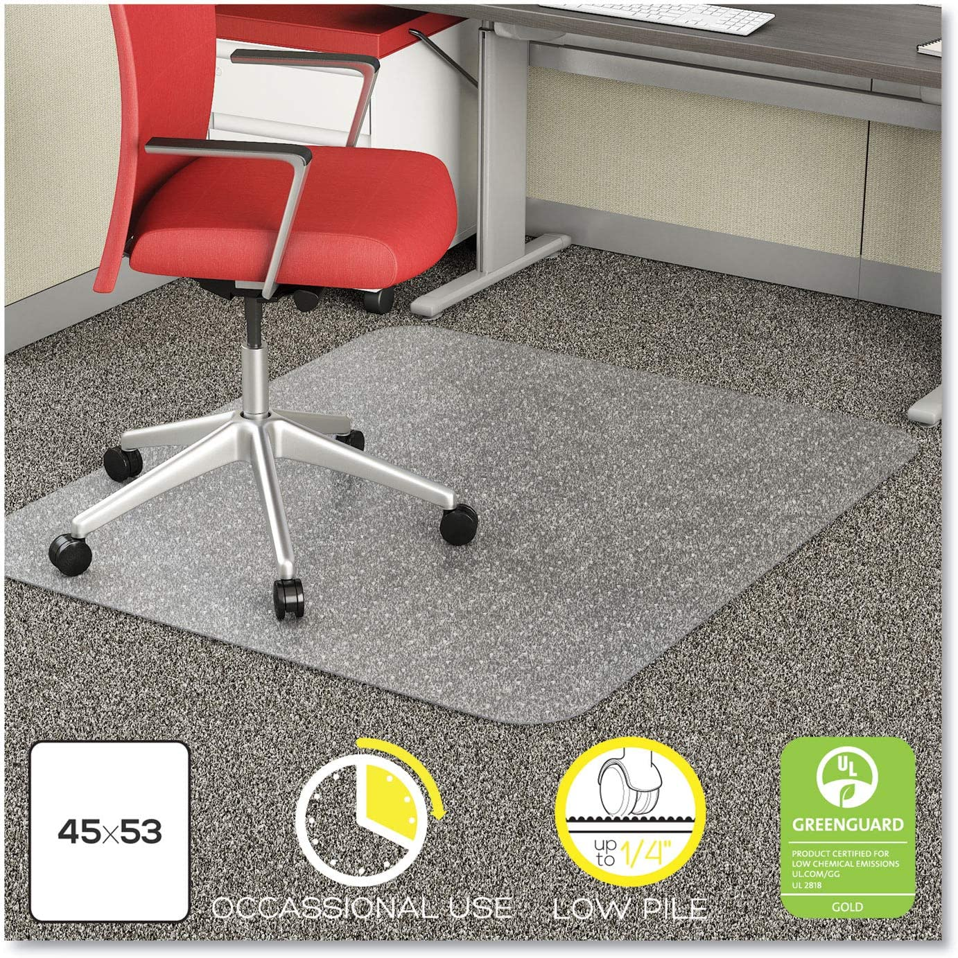 DEFCM11242COM – EconoMat Occasional Use Chair Mat for Low Pile Carpet