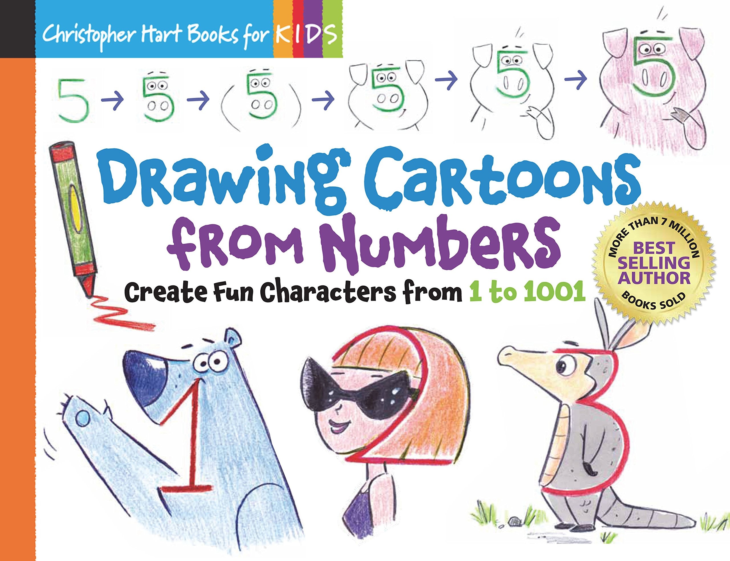Drawing Cartoons From Numbers Create Fun Characters From 1 To 1001
