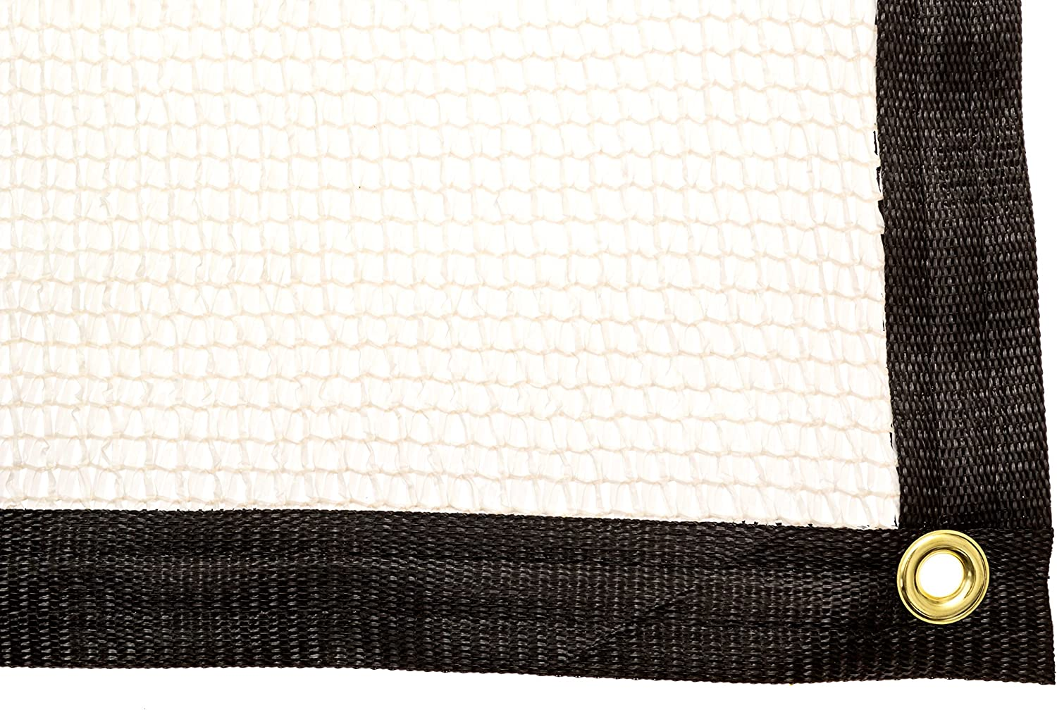 Be Cool Solutions 50% White Outdoor Sun Shade Canopy: UV Protection Shade Cloth| Lightweight, Easy Setup Mesh Canopy Cover with Grommets| Sturdy, Durable Shade Fabric for Garden, Patio & Porch 12'x20'