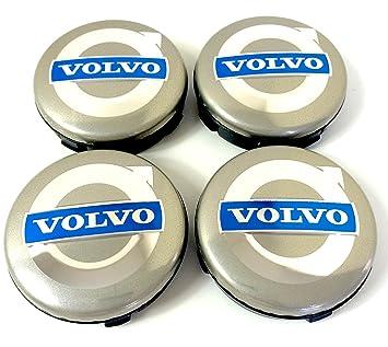 Set de 4 Volvo llantas de aleación Centro Tapacubos (64 mm, rueda insignia C30