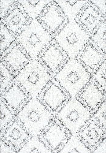 Nuloom 8 x 10 Iola Easy Shag Rug in White