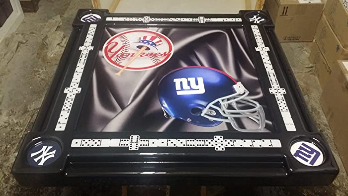 Stupendous Amazon Com Yankees And Ny Giants Domino Table By Domino Home Interior And Landscaping Ologienasavecom