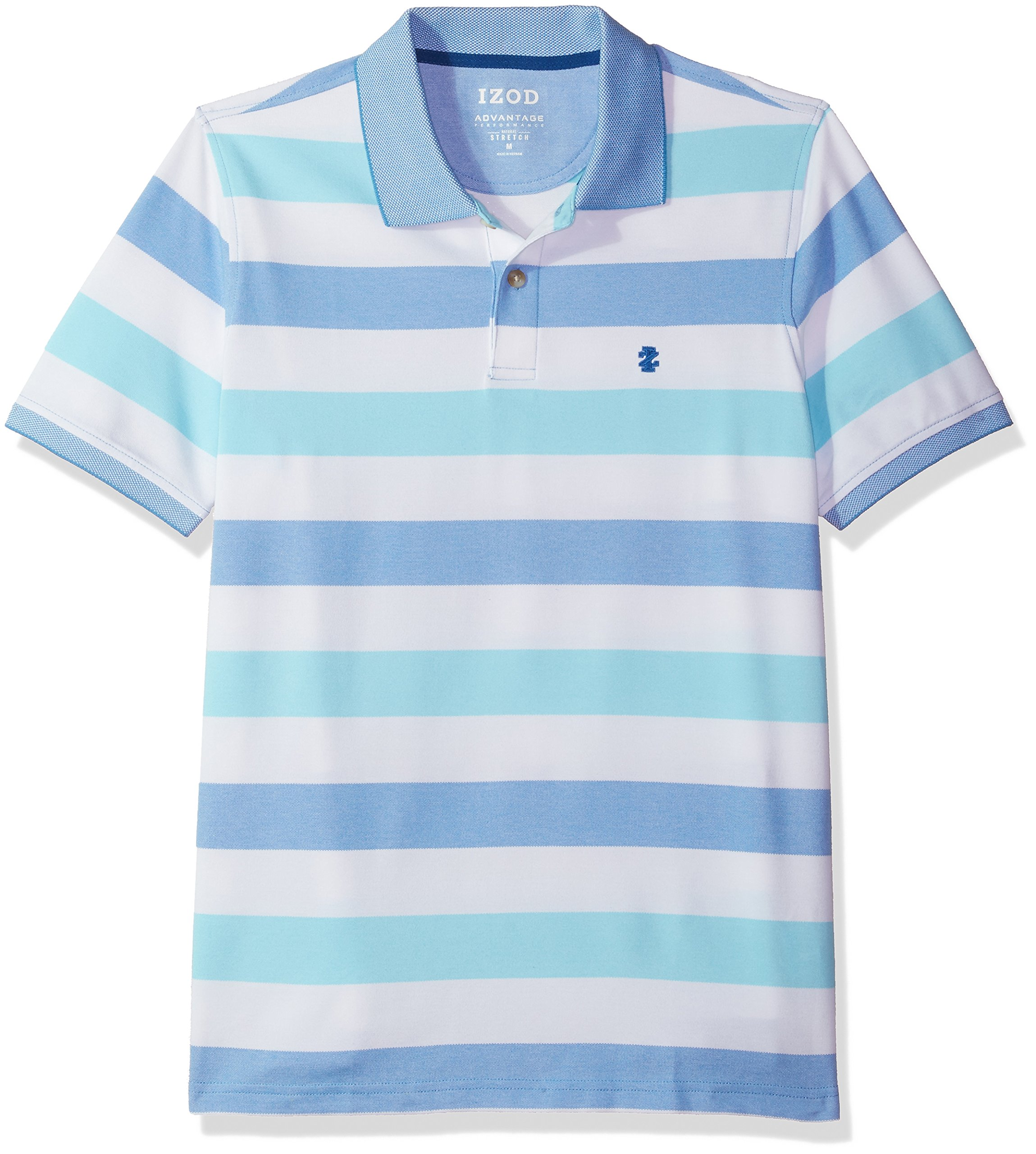 IZOD Men's Advantage Performance Stripe Polo, Blue Revival, XX-Large