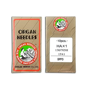 50 ORGAN STRETCH ELASTIC FLAT SHANK HOME SEWING NEEDLES  HAX1 130//705H HS