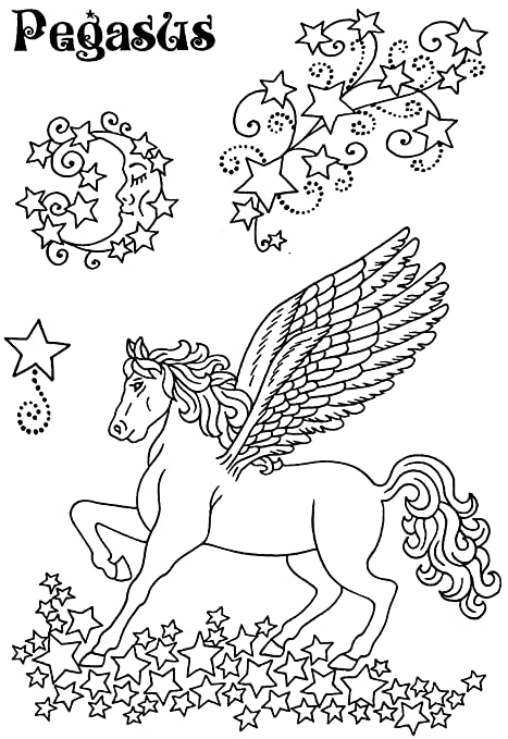 Sweet Dixie Pegasus Clear Stamp: Amazon.co.uk: Kitchen & Home