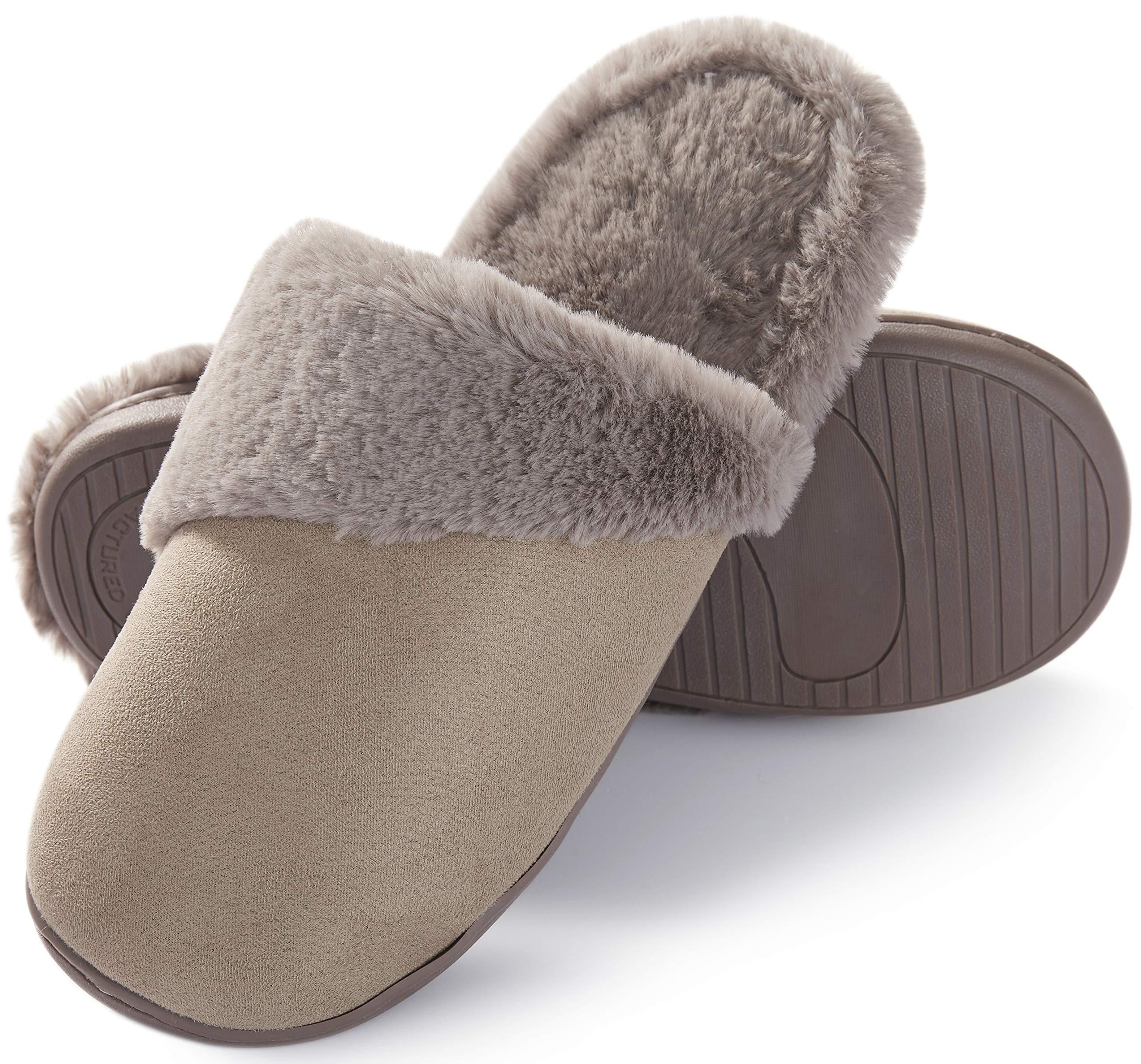 fb19a10ae363c Pantofole Scamosciate da Donna Interne Casa Morbida Autunno Inverno Memoria  Schiuma Pavimento Indoor Outdoor product image