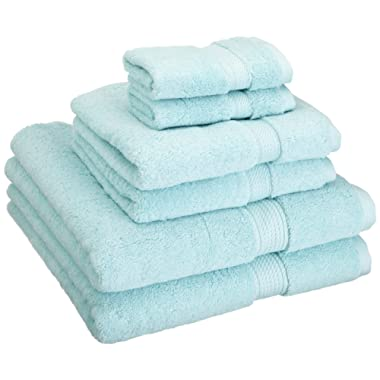 Superior 900 GSM Luxury Bathroom 6-Piece Towel Set, Made of 100% Premium Long-Staple Combed Cotton, 2 Hotel & Spa Quality Washcloths, 2 Hand Towels, and 2 Bath Towels - Sea Foam