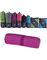MountFlow Microfibre Towel - Quick Dry Micro Travel Towels for Swimming Pool Camping Gym Sports Yoga and Pilates