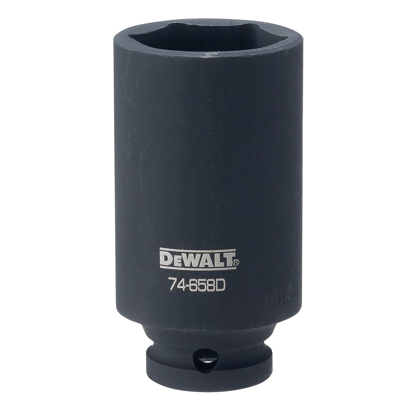 DEWALT DWMT74658OSP 6 Point 1//2 Drive Deep Impact Socket 1-1//4 SAE DWMT74658B