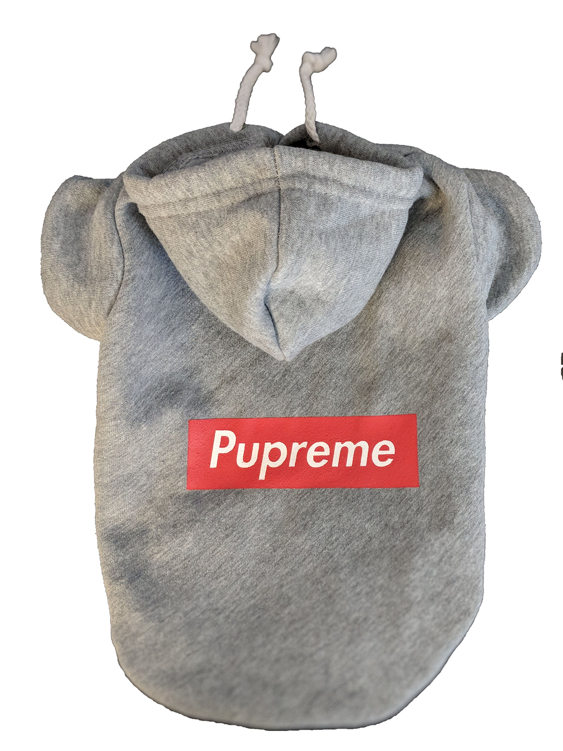 Pupreme Box Logo Dog Hoodie (Medium) for Toy Sized Dogs/Pups by Pupreme